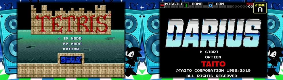 Tetris e Darius farão sua estreia no Mega Drive Mini — Foto: Reprodução/Twitter