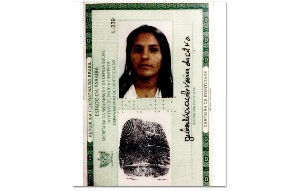 Juberlúcia Oliveira da Silva, de 30 anos, foi morta a facadas em Condado, PB; suspeito é o ex-companheiro — Foto: Polícia Civil/Divulgação