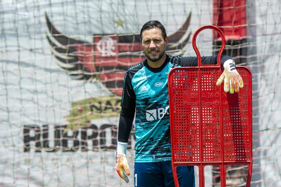 Diego Alves Flamengo — Foto: Marcelo Cortes / Flamengo