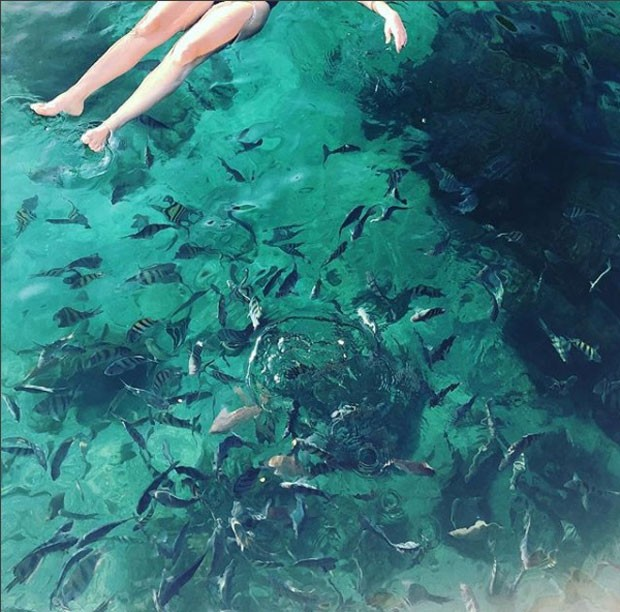 Tatá Werneck: mergulho no mar (Foto: Reprodução Instagram)
