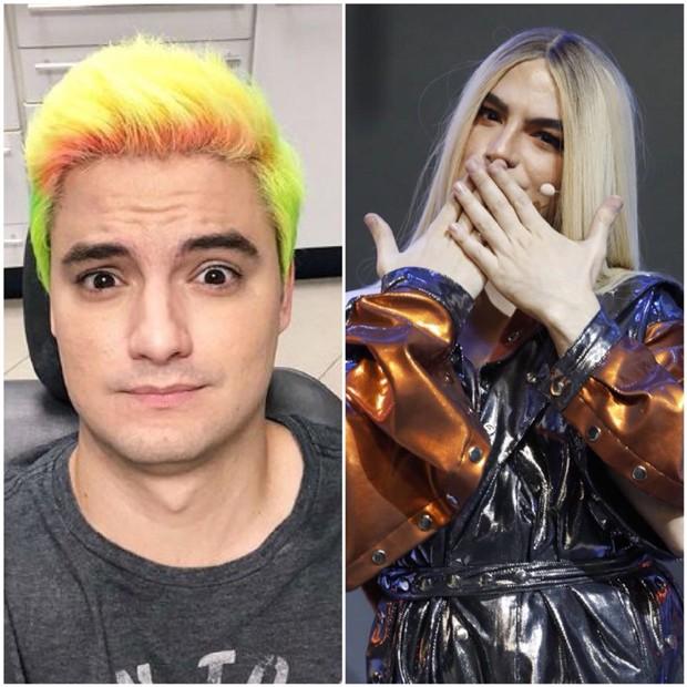 O antes e o depois de Felipe Neto (Foto: Reprodução/Instagram/Juliana Coutinho)
