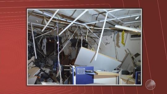 Homens armados explodem agência bancária na Chapada Diamantina