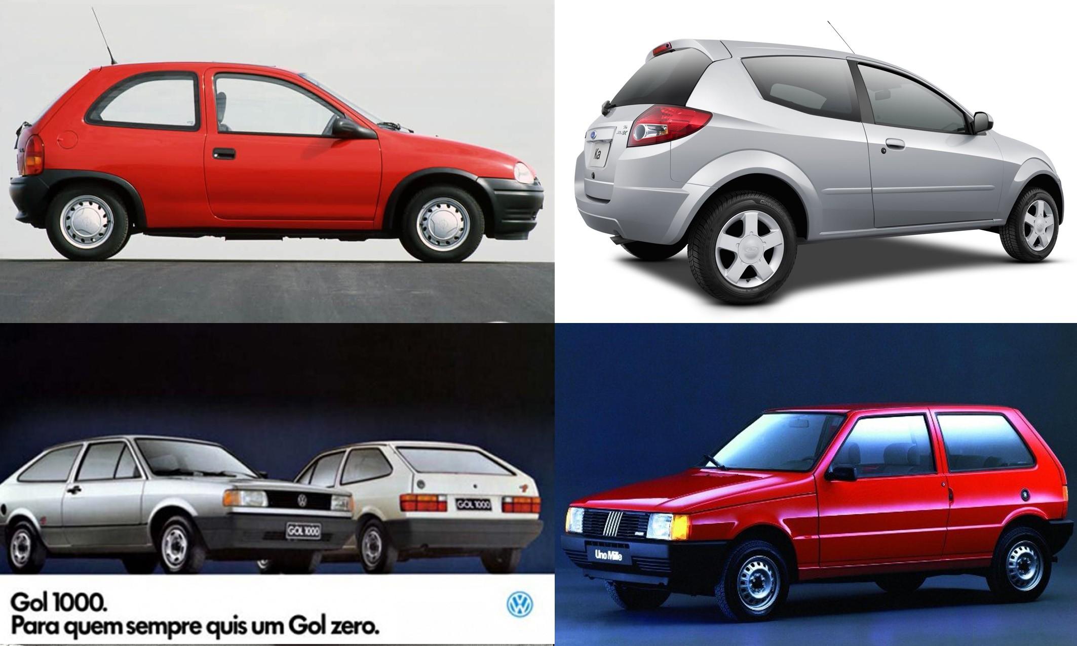 """O """"carro popular"""" está em extinção (Foto: Autoesporte c/ Reprodução)"""
