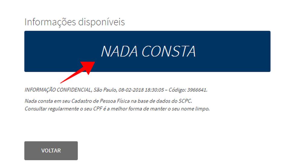 Confira débitos no seu CPF registrados na base da Boa Vista (Foto: Reprodução/Paulo Alves)