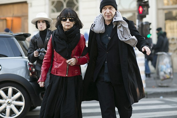 Rei Kawakubo of Comme des Garcons and her partner Adrian Joffe the President of Dover Street Market and Comme des Garcons  (Foto: Getty Images)
