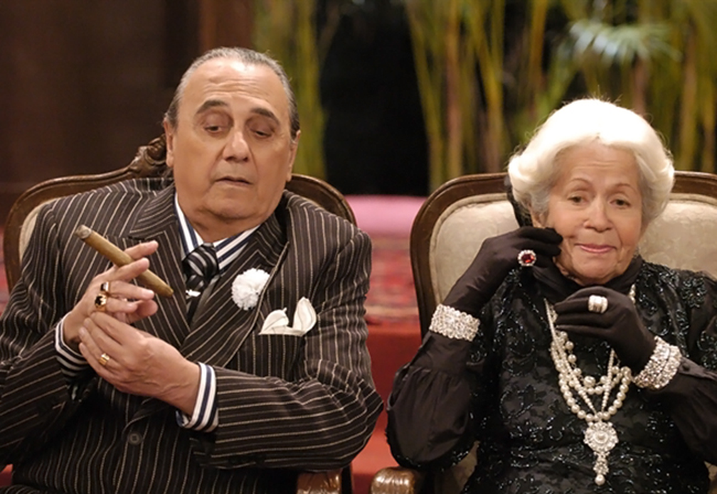 Agildo Ribeiro e Dinorah PA?ra em cena de 'Zorra Total', em 2009 (Foto: Thiago Prado Neris/TV Globo)