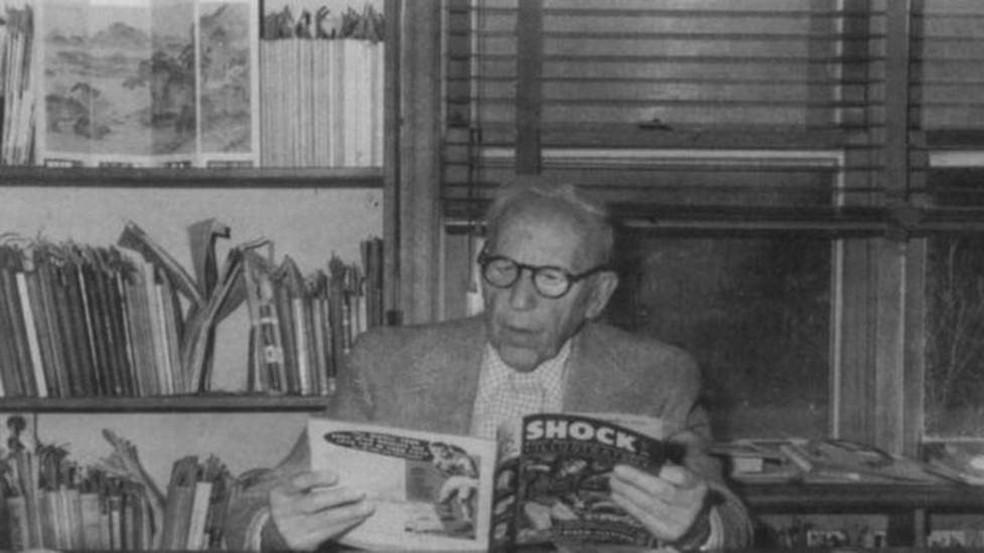 Fredric Wertham, psiquiatra alemão radicado nos EUA, foi o mais ruidoso detrator das histórias em quadrinhos nas décadas de 40 e 50 — Foto: US Library of Congress