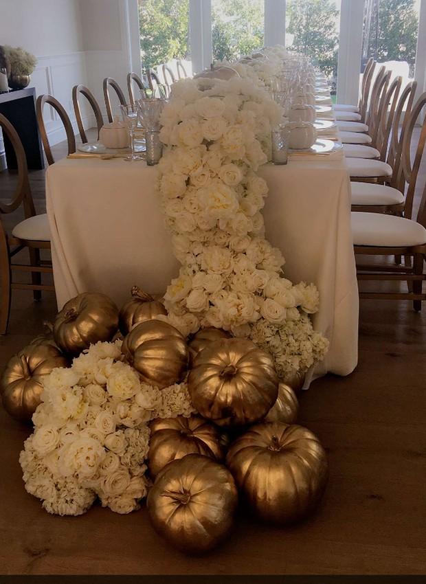 Ação de graças das Kardashians - Thanksgiving (Foto: Snapchat/Reprodução)