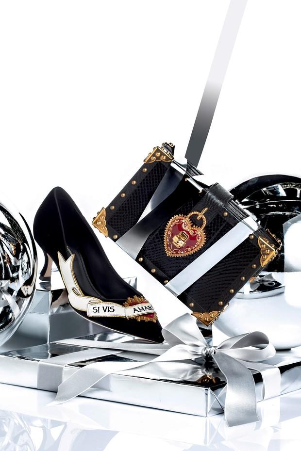Dolce & Gabbana R$ 3.800 (sapato) e R$ 15 mil (bolsa) (Foto: Carlos Bessa)