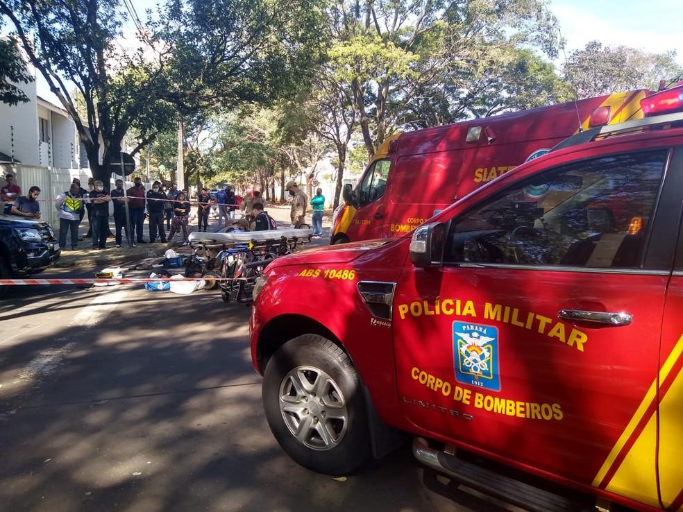 Acidente ocorreu no início da tarde desta sexta-feira (29) — Foto: Honório Silva/RPC