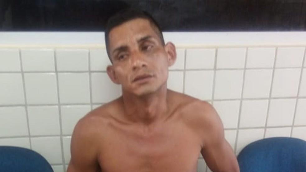 -  Alan Costa dos Santos, preso na delegacia de Polícia Civil em Oriximiná  Foto: Polícia Militar/Divulgação