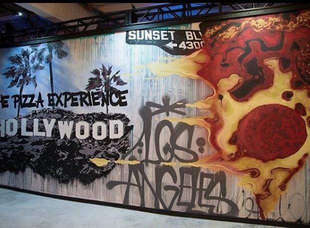 O alimento queridinho nos Estados Unidos é estampado na parede em forma de grafite  (Foto: Instagram/ Reprodução)