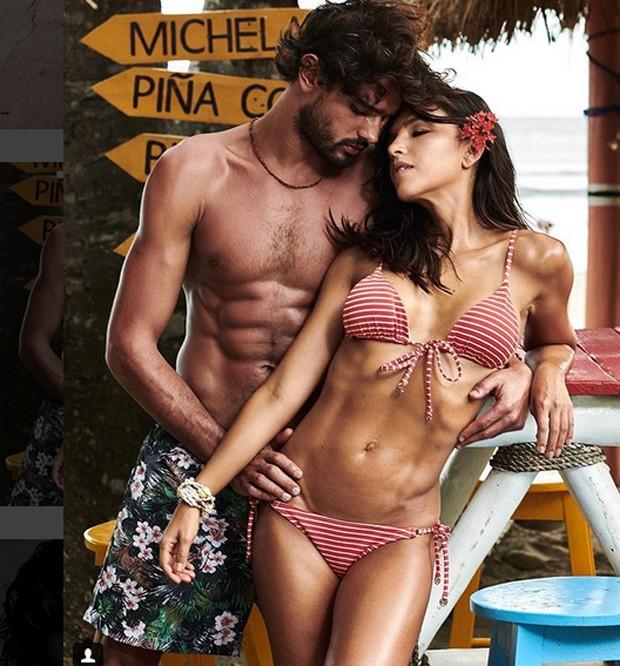 Mariana Rios e Marlon Teixeira posam para campanha de moda (Foto: Reprodução/Instagram)