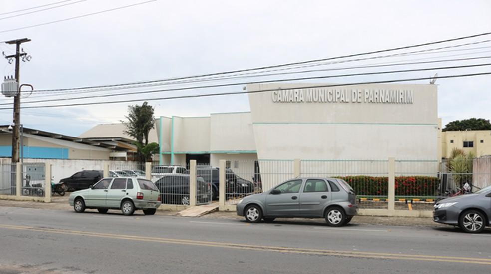 Câmara Municipal de Parnamirim, na região metropolitana de Natal — Foto: Divulgação/CMP
