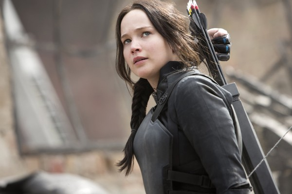 A atriz Jennifer Lawrence em Jogos Vorazes: A Esperança - Parte 1 (2014) (Foto: Reprodução)