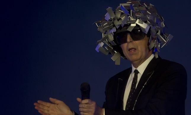 Neil Tennant, dos Pet Shop Boys, durante a apresentação no Rock in Rio: ele e Chris Lowe foram assaltados em Copacabana
