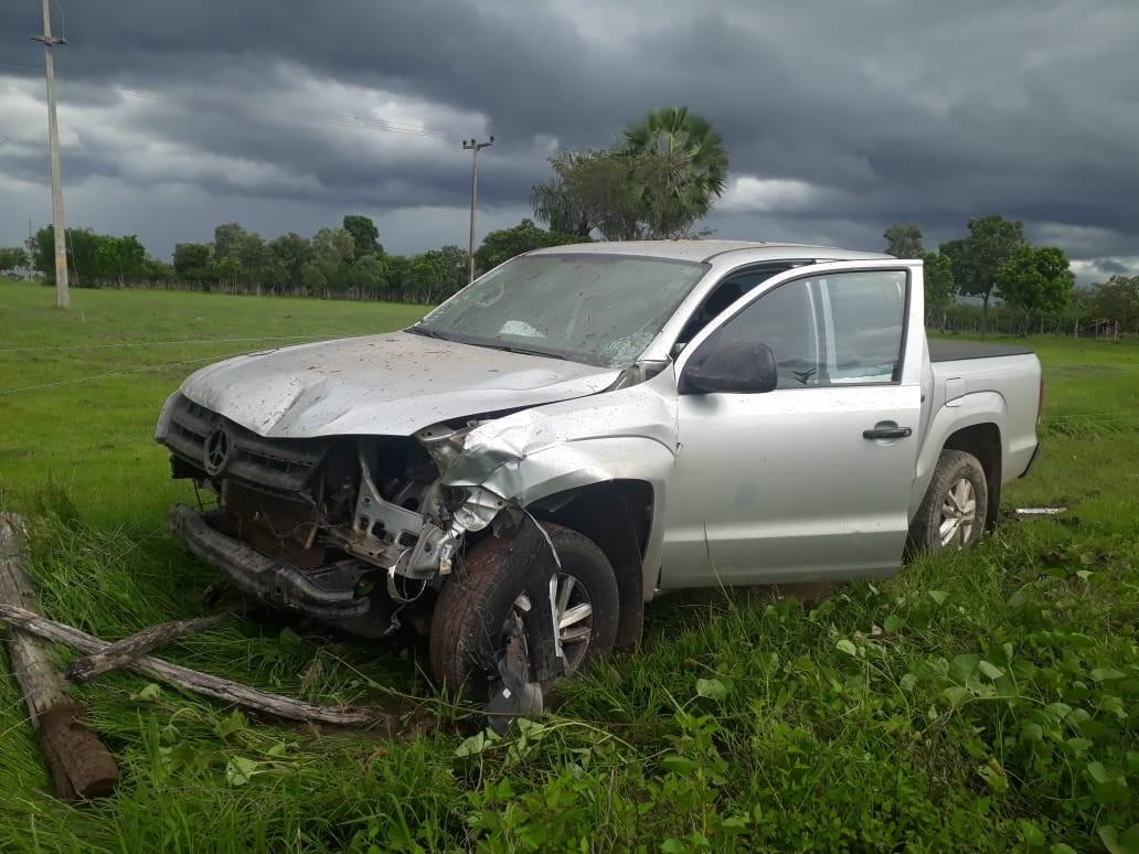 Mulher morre vítima de colisão entre motocicleta e caminhonete na PI-113