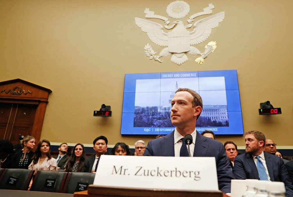 Zuckerberg depõe nos EUA (Foto: Leah Millis/Reuters)
