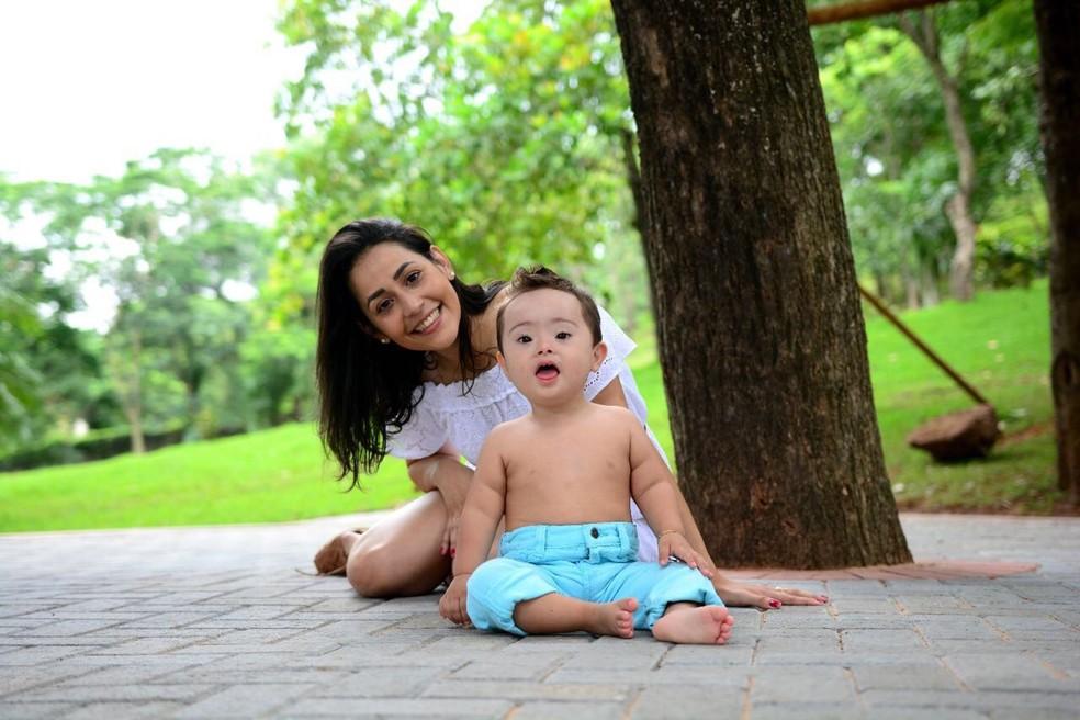Rafaela costuma mostrar a rotina do filho Luiz Henrique nas redes sociais (Foto: Arquivo pessoal)