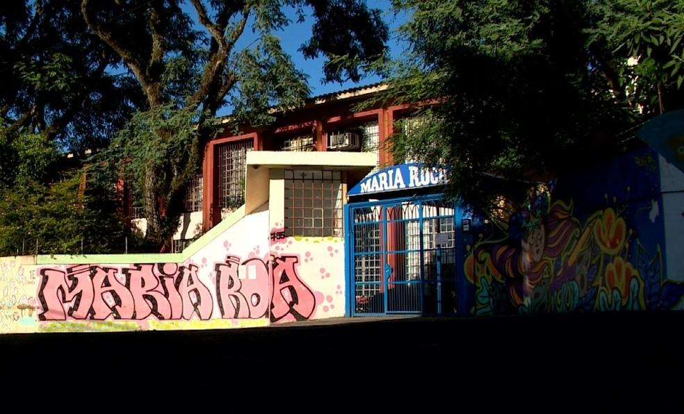 Escolas estão paralisadas em Santa Maria nesta sexta-feira (22) — Foto: Reprodução/RBS TV