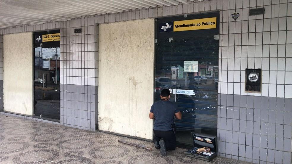 Centro de Distribuição dos Correios é arrombado pela segunda vez em uma semana, na Zona Oeste de Natal (Foto: Kleber Teixeira/Inter TV Cabugi)