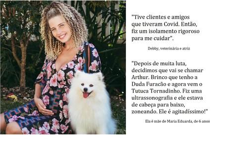 Debby está grávida de cinco meses e meio. Ela é mulher do veterinário Leandro Reprodução