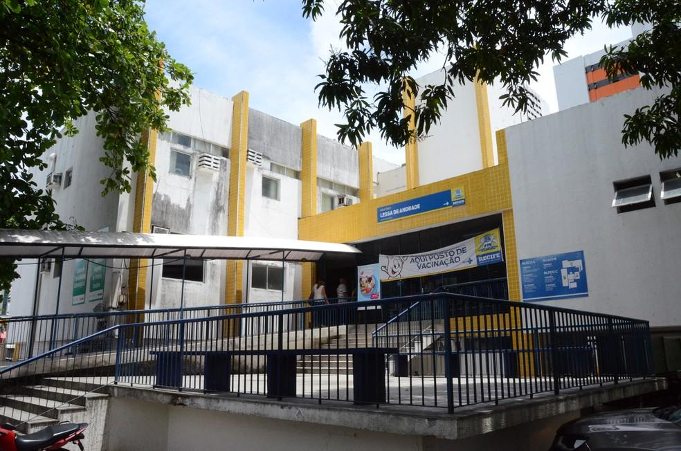 Policlínica Lessa de Andrade fica no bairro da Madalena, na Zona Oeste do Recife — Foto: Irandi Souza/Divulgação