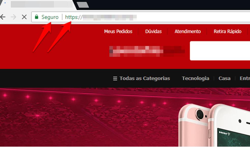 HTTPS e cadeado pode ser indicativo de que o site é verdadeiro (Foto: Reprodução/Gabriel Ribeiro)