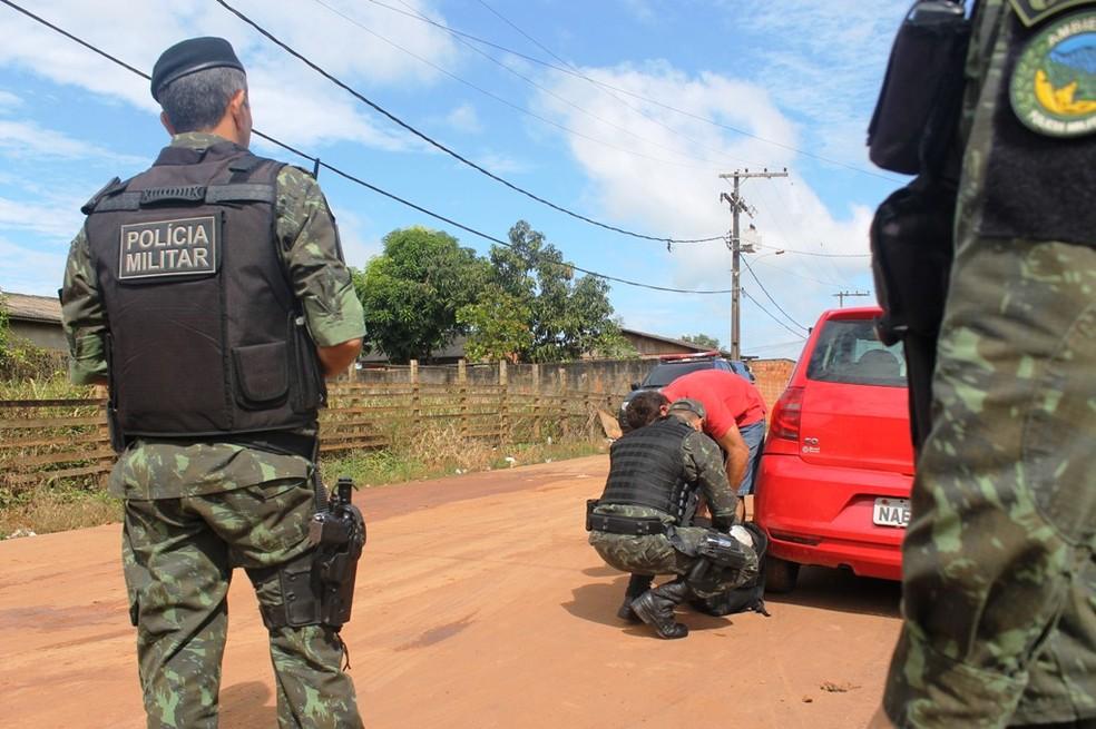 Operação deve durar 48 horas em bairros da parte alta de Rio Branco (Foto: Divulgação/PM-AC)