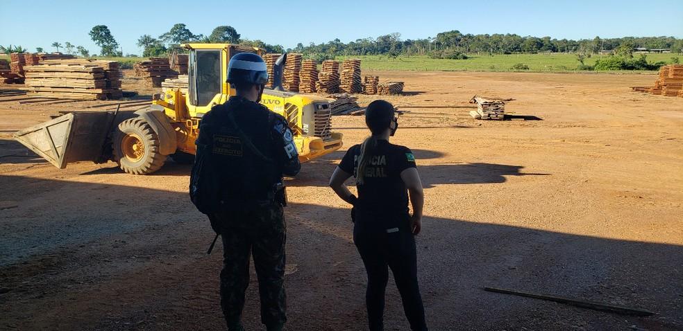 Operação Ninametsa foi deflagrada nesta quarta-feira (3) em Rondônia. — Foto: Divulgação/PF