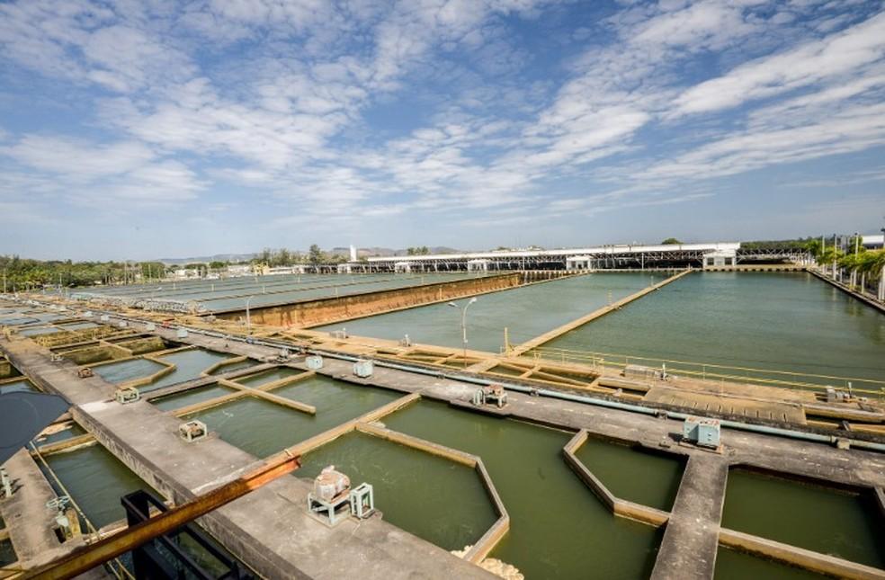 Maior estação de tratamento de água do mundo, a ETA Guandu está entre os ativos da Cedae — Foto: Divulgação/Cedae