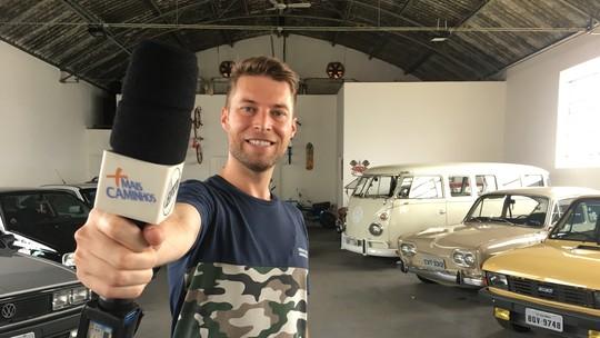 Repórter Rafael Ristow mostra a coleção de carros antigos de dois amigos