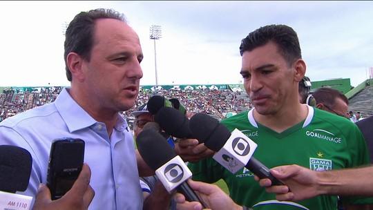 Rogério Ceni e Lúcio falam sobre novos desafios, agora defendendo Fortaleza e Gama