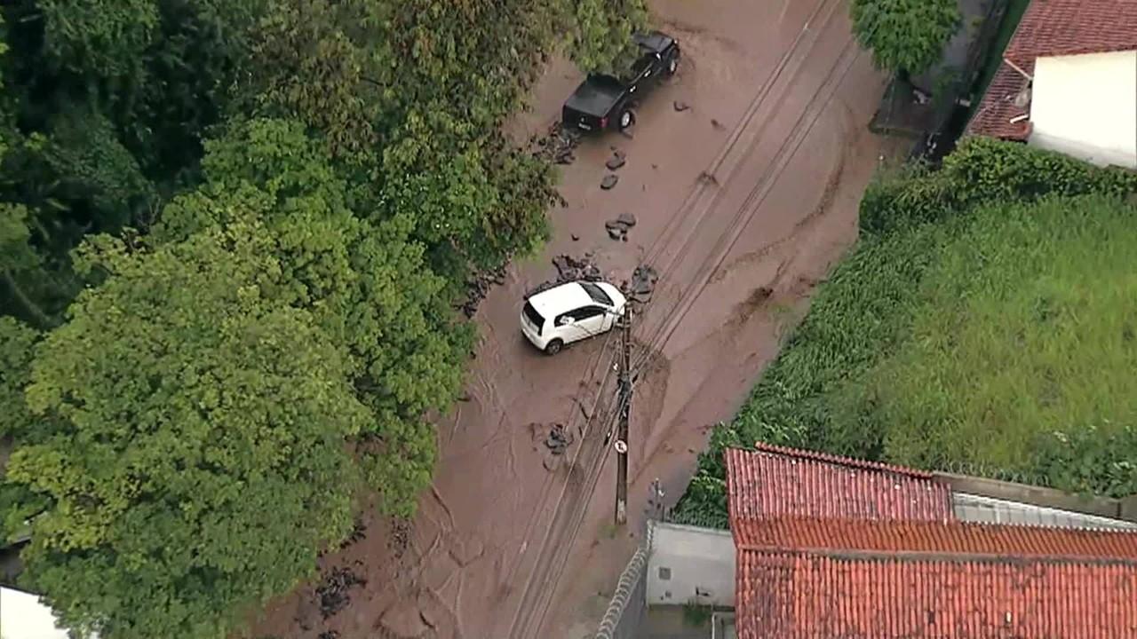 Chuva provoca estragos no Belvedere