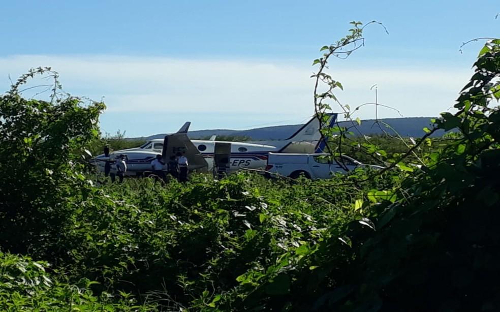 Avião com doses da vacina da Covid-19 bate em jumento que estava em pista de aeródromo em  Ibotirama