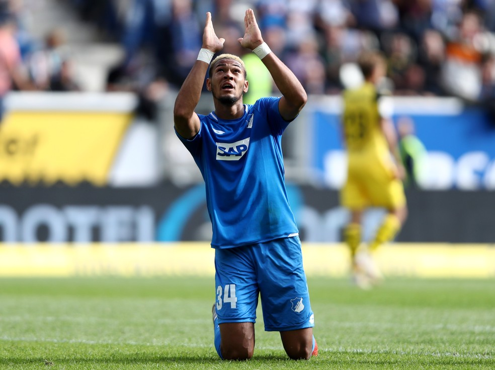 Após duas temporadas emprestado, Joelinton se consolidou como titular do Hoffenheim — Foto: Getty Images