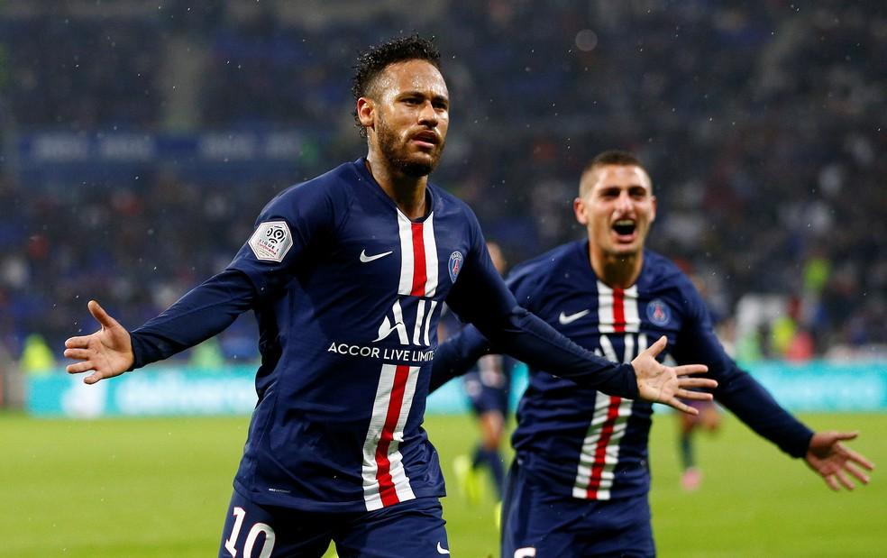 Neymar tem dois gols marcados pelo PSG nesta temporada — Foto: REUTERS/Emmanuel Foudrot