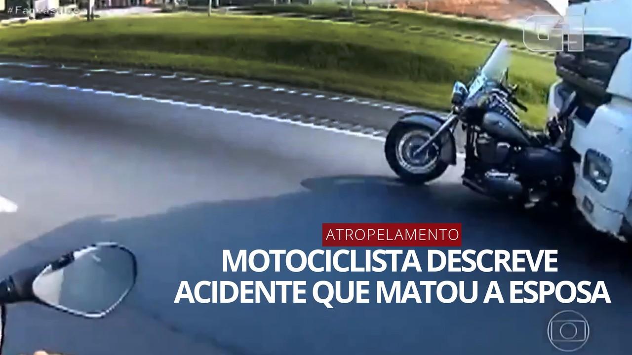 VÍDEO: Motociclista atropelado por caminhão conta o que aconteceu