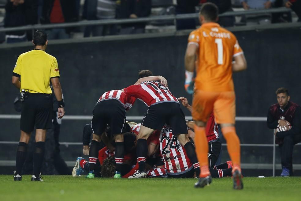 Otero gol Estudiantes Nacional Libertadores (Foto: Demián Estévez/EFE)