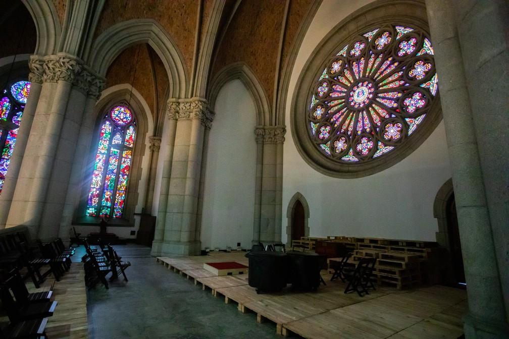 Área do coral na Catedral da Sé também terá concertos  — Foto: Celso Tavares/G1