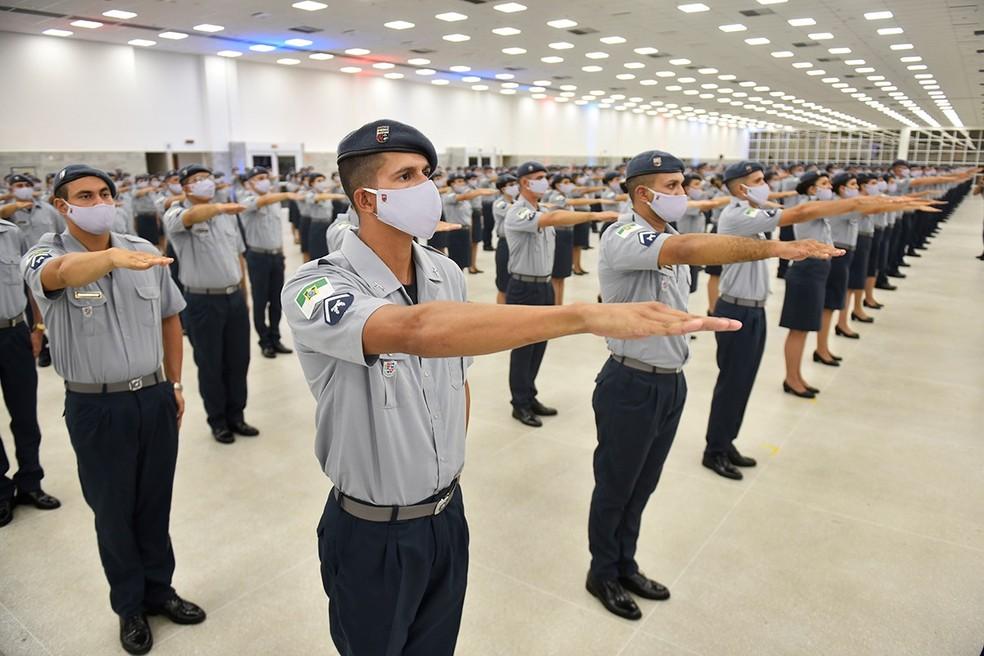 Soldados da Polícia Militar do Rio Grande do Norte. — Foto: Governo do RN/Divulgação