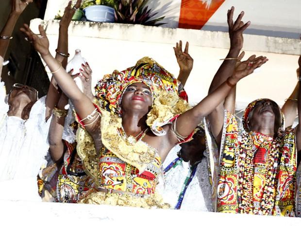 Bloco Ilê no carnaval de Salvador (Foto: Diogo Macedo/Ag Haack)