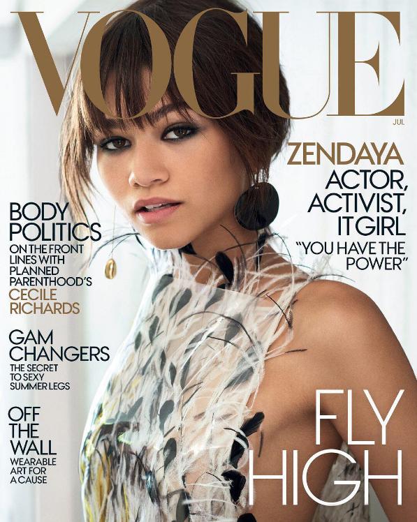 Zendaya na capa da Vogue americana de julho de 2017 (Foto: Divulgação/Mario Testino)