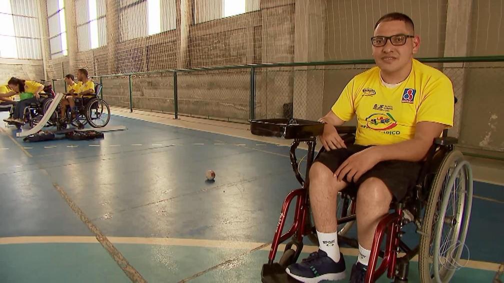Eduardo Batista atleta bocha paralímpica Juiz de Fora — Foto: Reprodução/TV Integração