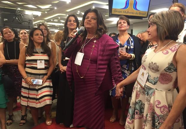 Luiza Helena Trajano, presidente do Conselho de Administrição do Magazine Luiza, criou o Grupo Mulheres do Brasil, com a empresária Sônia Hess (Foto: Mariane Reghin)