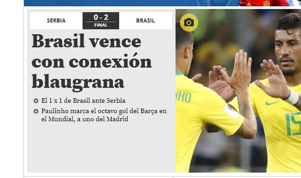 Vitória do Brasil no Mundo Deportivo (Foto: Reprodução)