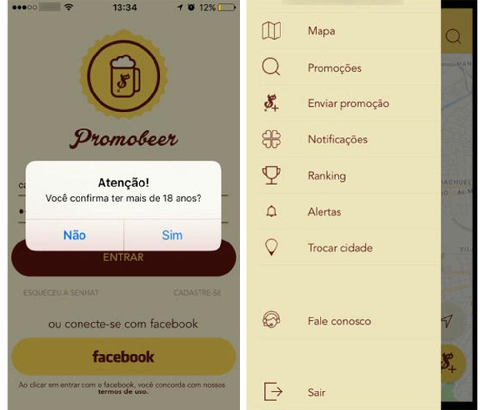 Aplicativo PromoBeer permite pesquisar promoções de bebidas e cadastrar novas ofertas (Foto: Reprodução/Caroline Brizon)