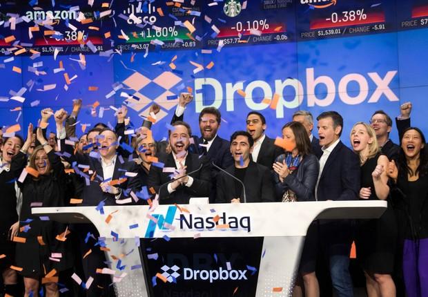 Dropbox começou a ser negociado hoje na bolsa (Foto: Drew Angerer/Getty Images)