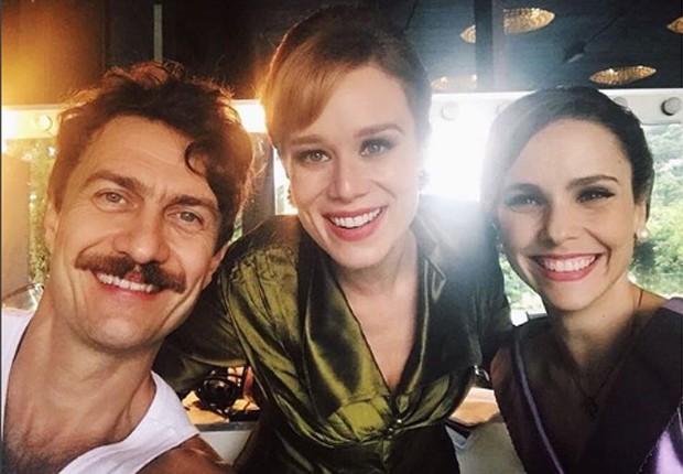 Gabriel Braga Nunes, Mariana Ximenes e Débora Falabella (Foto: Reprodução/Instagram)