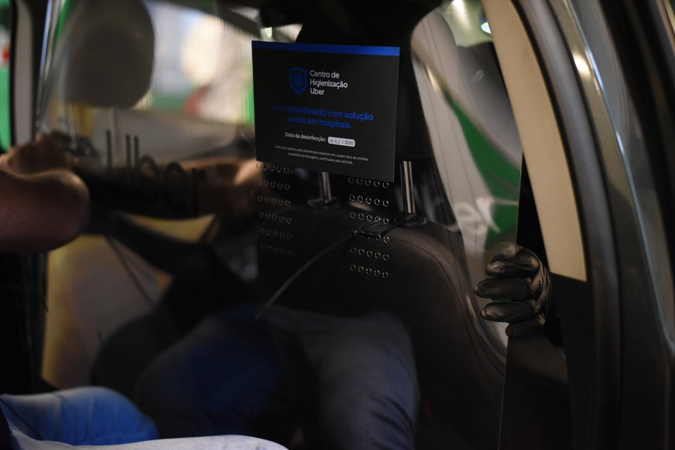 Instalação de divisória da Uber — Foto: Divulgação